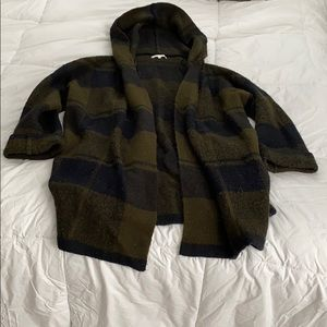 Super warm olive & navy plaid jacket
